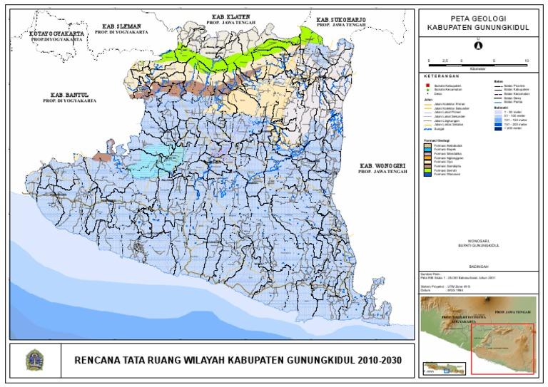 A0-02-Peta Geologi Kabupaten Gunungkidul