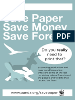 Wwf Poster Save Paper