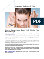4 Bahaya Menggunakan Tisu Pembersih Wajah