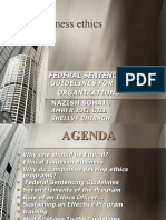 Federal Sentencing Guidelines For the Organizations