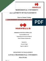 Training Report(Cash Management)