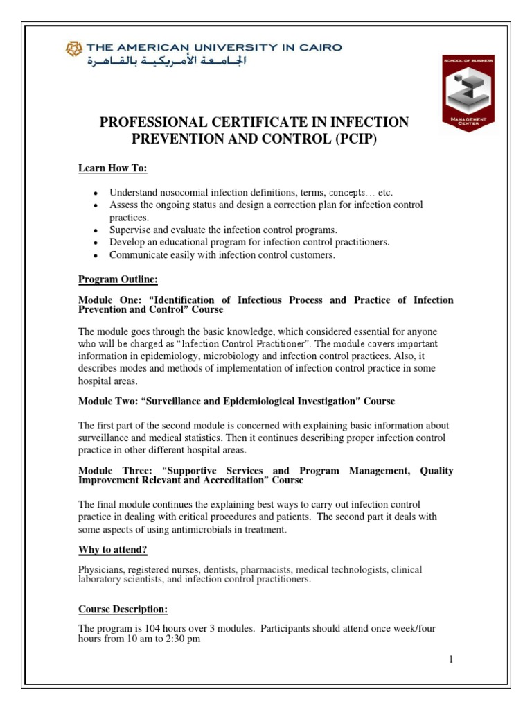 Brochurefact Sheet Infection Control Infection Control Infection