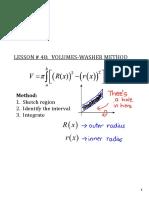 Volumes-washers method