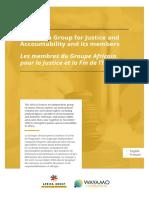 The Africa Group for Justice and Accountability and its members - Les membres du Groupe Africain pour la Justice et la Fin de l'Impunité