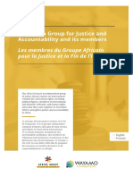 The Africa Group for Justice and Accountability and its members - Les membres du Groupe Africain pour la Justice et la Fin de l'Impunité