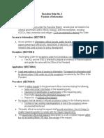 Executive Order No. 2 (FOI) Pertinent Provisions