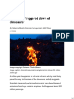 Volcanoes Triggered Dawn of Dinosaurs