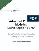 Advanced Process Modelling Using Aspen HYSYS (OCR)