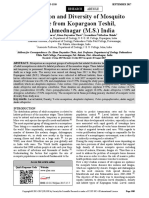 Distribution and Diversity of Mosquito Larvae From Kopargaon Teshil Dist Ahmednagar (M.S.) India