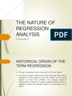 Nature of Regression