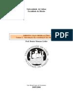 Direito Das Obrigações I - Resumos Do Manual Do Prof. Menezes Leitão