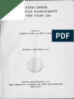 Dated Greek Miniscule Manuscripts