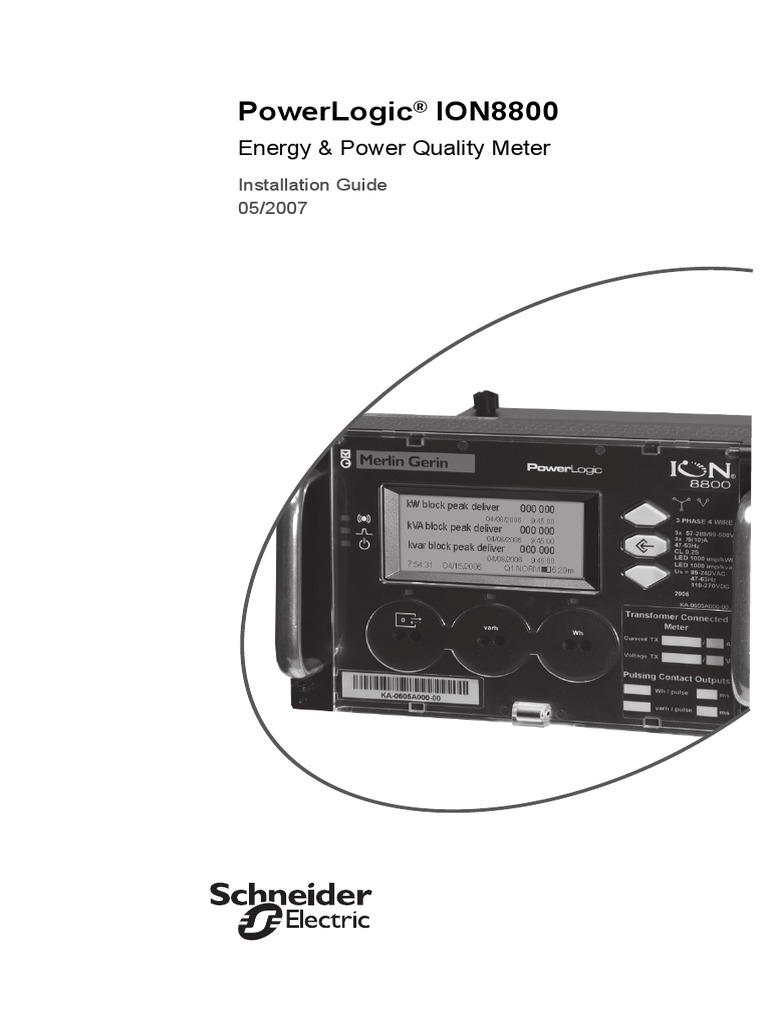 Powerlogic Ct Wiring Diagram Great Installation Of Transformer Diagrams Pdf Ion 8800 Guide 052007 Electrical Rh Scribd Com Connection Potential
