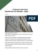 Hundreds of German Choir Boys Abused Over Six Decades