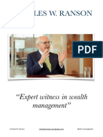 Charles W Ranson - Expert Witness in Wealth Management