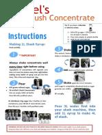Slush Concentrate Instructions