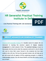 HR Generalist Practical training Institute in Delhi