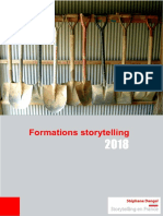 Catalogue des formations au storytelling 2018