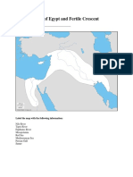 map of egypt and fertile crescent handout 2014