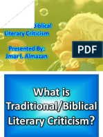 Traditional Criticism