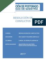 Analisis Del Manejo de Conflictos 2017