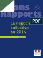 La négociation collective en 2016 - Bilan