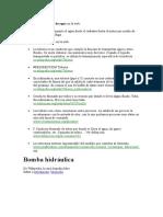 Definiciones de Bomba de Agua en La Web