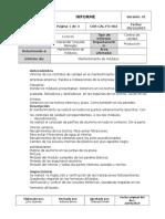 Informe de Mantenimiento de sistemas habitacionales