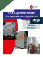 Veiga - 2012 - ETICS e Argamassas Térmicas Novos Desafios de Desempenho e Sustentabilidade - Unknown