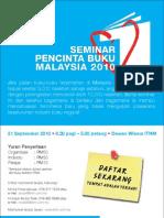 Poster Seminar Pencinta Buku Malaysia 2010