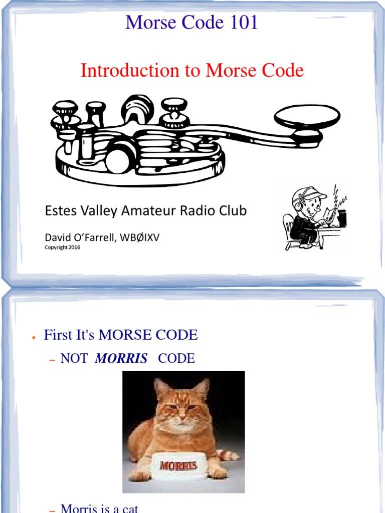 Morse 101 v2P | Radio | Electronics