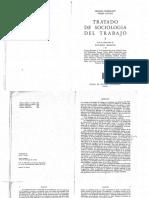 Friedmann y Naville. Tratado de Sociología Del Trabajo. Tomo I