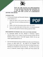 Status of preparedness of the oil and gas sub-sector in Uganda
