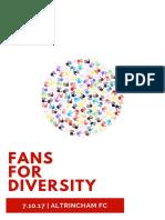 Altrincham FC Fans for Diversity 7.10.17