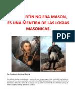 SAN MARTÍN NO ERA MASON- ES UNA MENTIRA DE LAS LOGIAS MASONICAS.docx