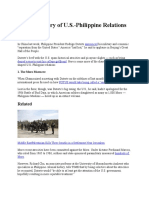 A Brief History of U.S.-philippine Relations