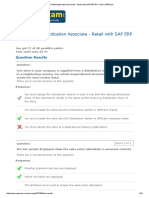 8SAP Certified Application Associate - Retail With SAP ERP 6