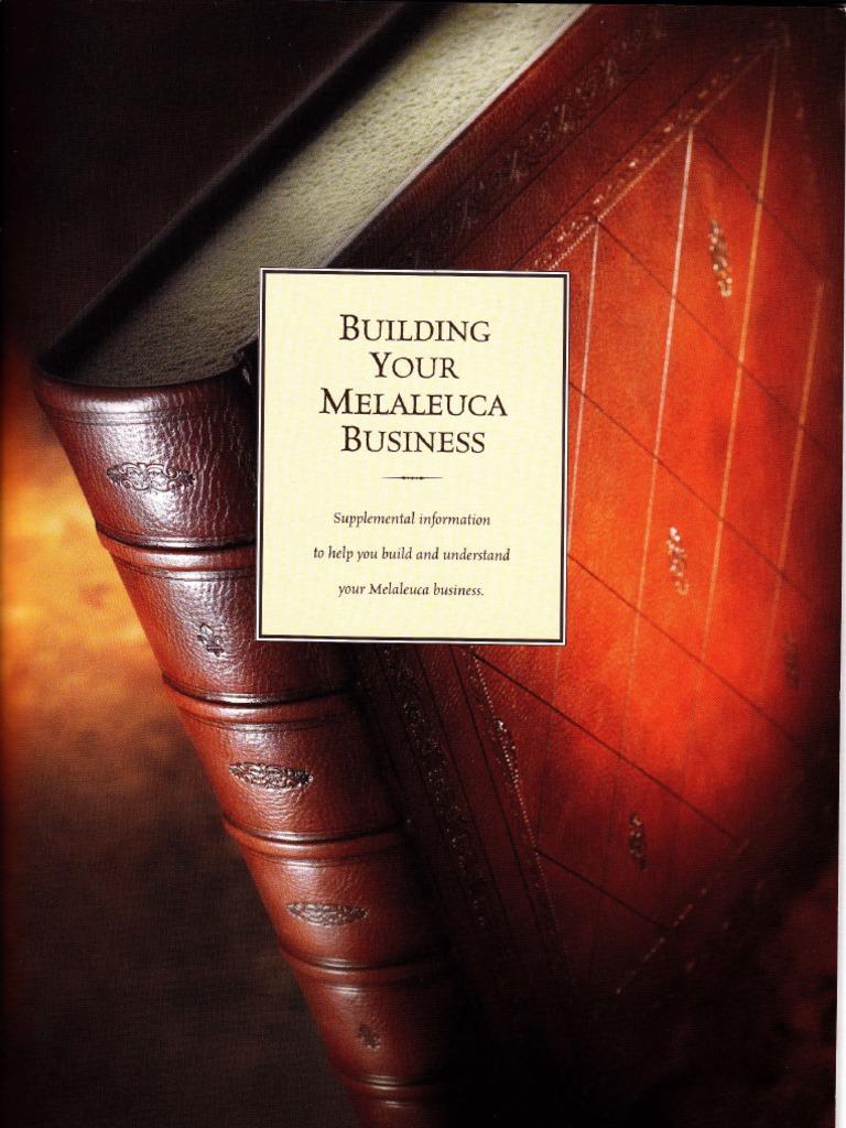 Melaleuca Business Builder Guide Revenue Multi Level Marketing