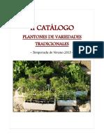 20150324 II Catálogo Plantones de Variedades Tradicionales Temporada de Verano 2015
