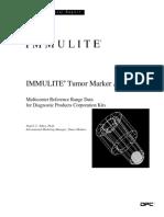 Tumor Marker Range