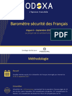 Baromètre securite Odoxa Fiducial-Septembre 2017