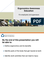 Ergonomics Awareness Slideshow 2