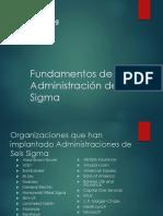 Fundamentos de Administración de Six Sigma