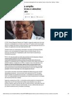 Segunda Instância Amplia Condenação de Dirceu e Absolve Vaccari Na Lava Jato - Notícias - Política