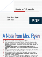 The Eight Parts Of Speech Final PP