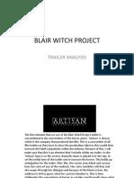 blair witch trailer analysis