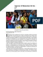 Cómo Recuperar El Bienestar de Los Venezolanos