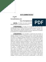 Auto Administrativo 2