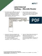 Biznet Dedicated Internet - Connection Setting - Microtik Router