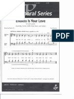 Endless is your Love Sheet Music Piano